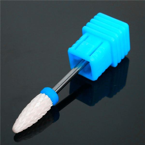 2.34mm Shank 6mm Head Ceramic Nail Drill Bit Electric Nail Grinding Machine Drill Bit