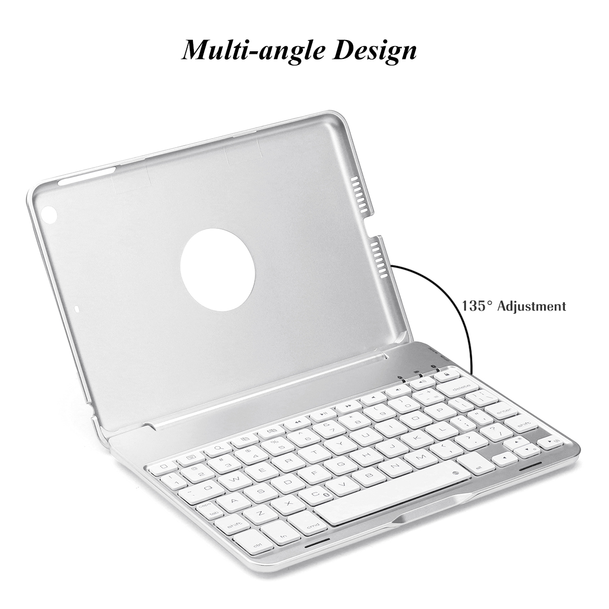 7 Colors Backlit Aluminum bluetooth Keyboard Kickstand Case For iPad Mini 2/iPad Mini 3