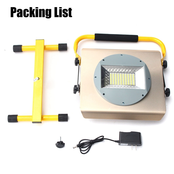 100W Portable Rechargeable 100 LED RGB RGB Flood Spot Work Light Camping Lamp