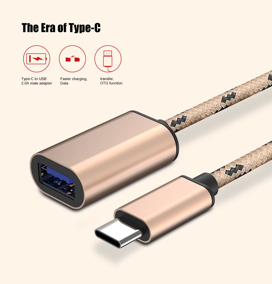 FLOVEME OTG Type-C Data Tranfer USB2.0 Adapter Cable For Samsung S8 Xiaomi mi5 mi6 Huawei Mate 9 P9