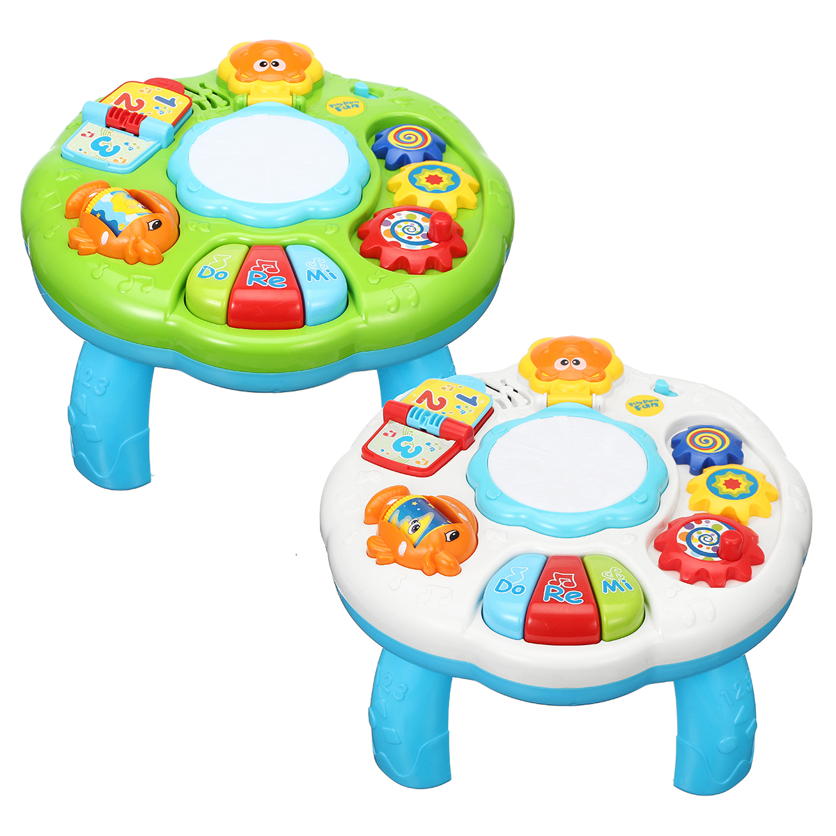 Educational Piano Pat Drum Musical Baby Activity Learning Table Game Playing Toys