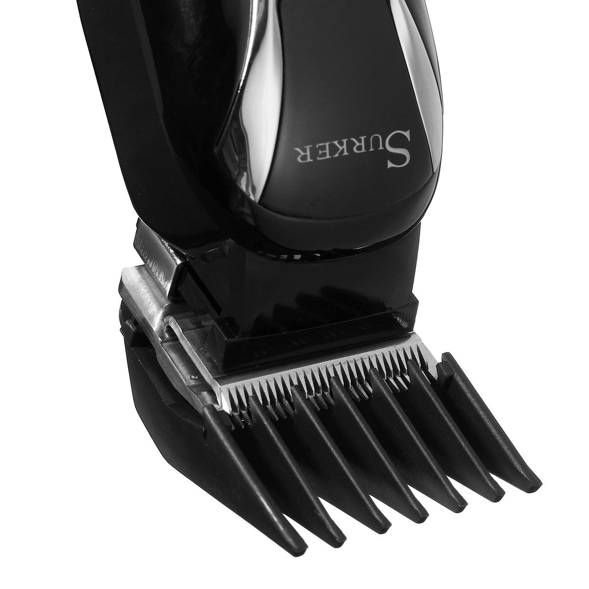 SURKER Barber Salon Electric Hair Clipper Rechargeable LED