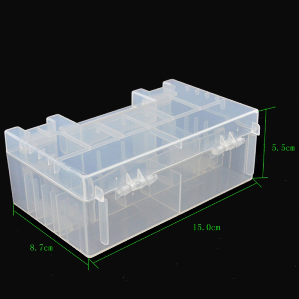 Hard Plastic Battery Case Holder Storage Box For AA AAA 9V Battery Container 15x8.7x5.5cm