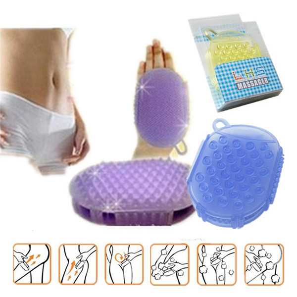Bath Massage Glove Shower Mitt Scrub Exfoliater Brush Cellulite Body Remover