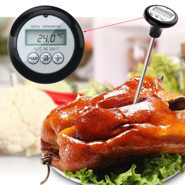 digital lcd bbq barbecue thermometer probe food meat kitchen measuring tool
