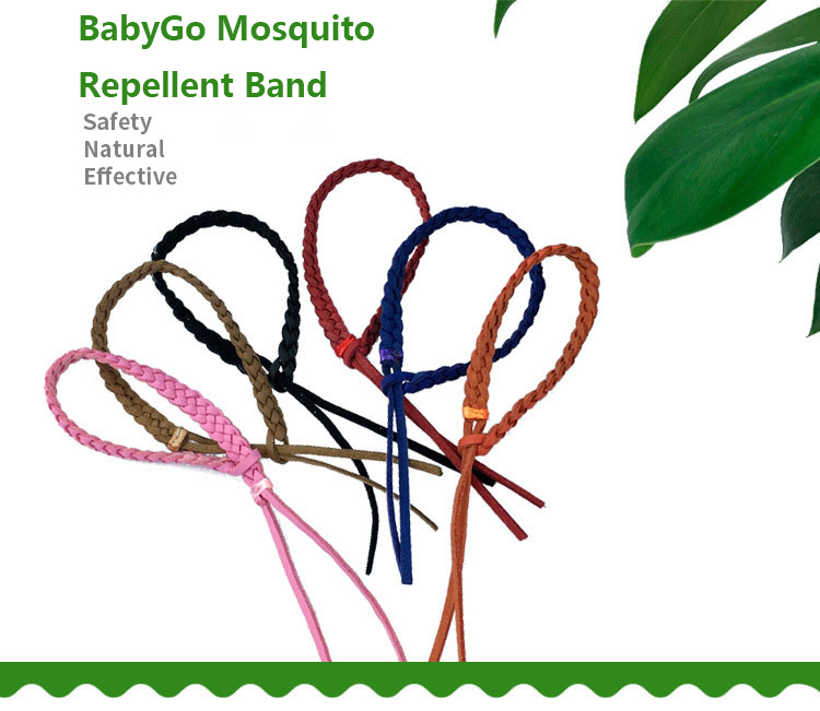 BabyGo Mosquito Repellent Band Baby Child Leather Plant Outdoor Mosquito Repellent Bracelet