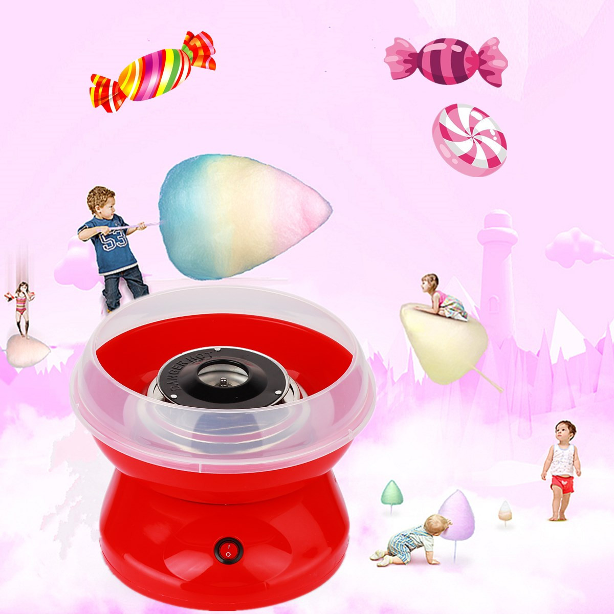 220V Electric Cotton Candy Machine Floss Maker Commercial Candyfloss Making Machine