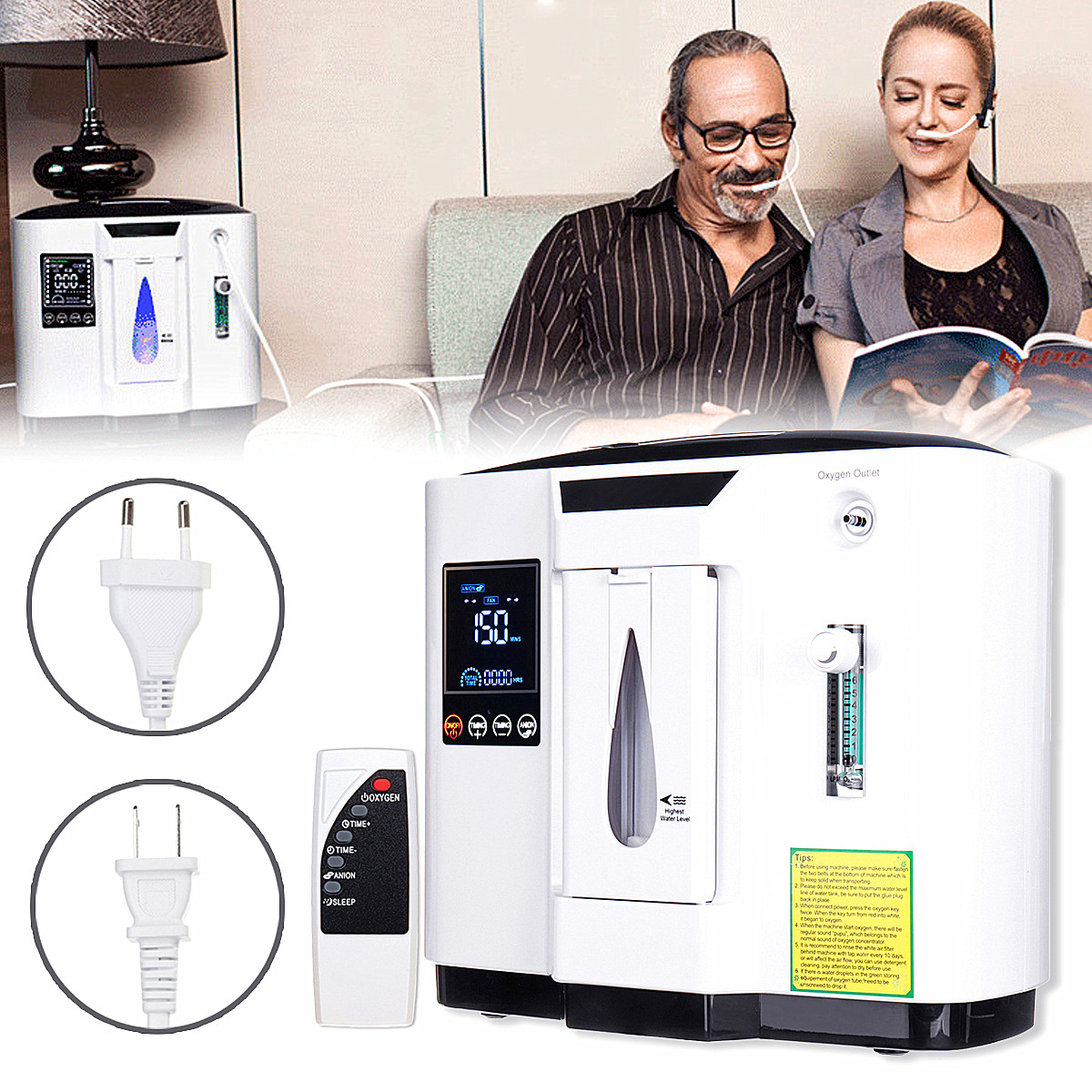 6L Medical Use Oxygen Air Generator Timing Air Concentrator Air Purifie Portable Home Oxygen Machine