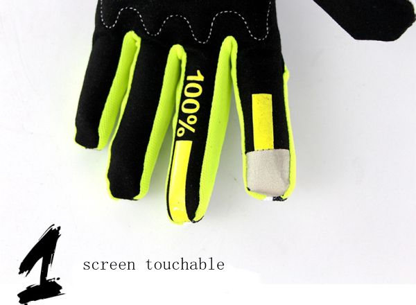 Full Finger Cycling Gloves Screen Touchable For Motorcycle Dirt Bike Sports M L XL