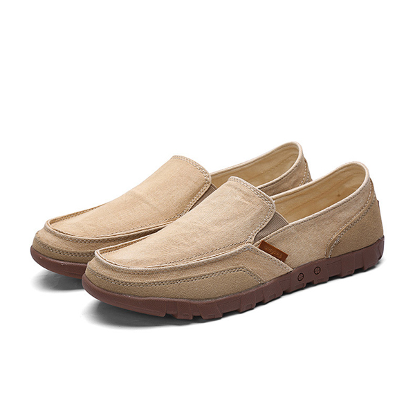 Men Casual Slip On Flat Shoes Fashion Round Toe Comfortable Sneakers