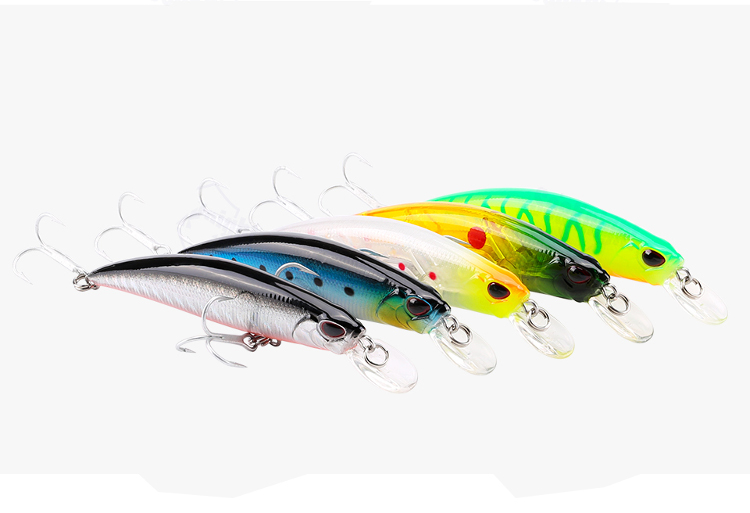 SesKnight SK040 5pcs/lot 9.5g 70mm Sinking Fishing Lure Minnow Fishing Hard Baits VMC Hook Salt Water