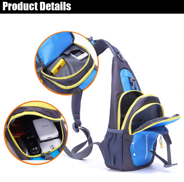 Men Women Nylon Waterproof Crossbody Bag Outdoor Sport Casual Chest Bag