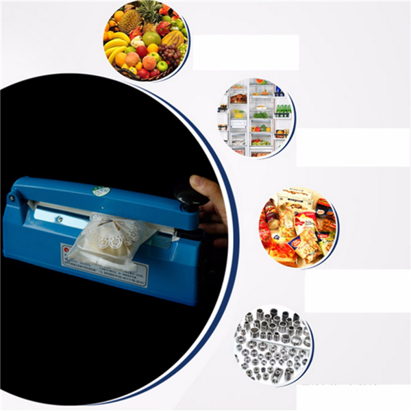 220V 180W Impulse Heat Sealer Seal Ring Machine Plastic Bag Closer Teflon PTFE Seal Ring 300mm