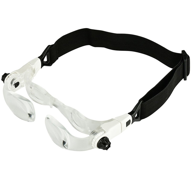 Headband 4.0X Bracket TV Glasses Magnifier Loupe Goggles Magnifying Glass with Phone Holder Glasses Case