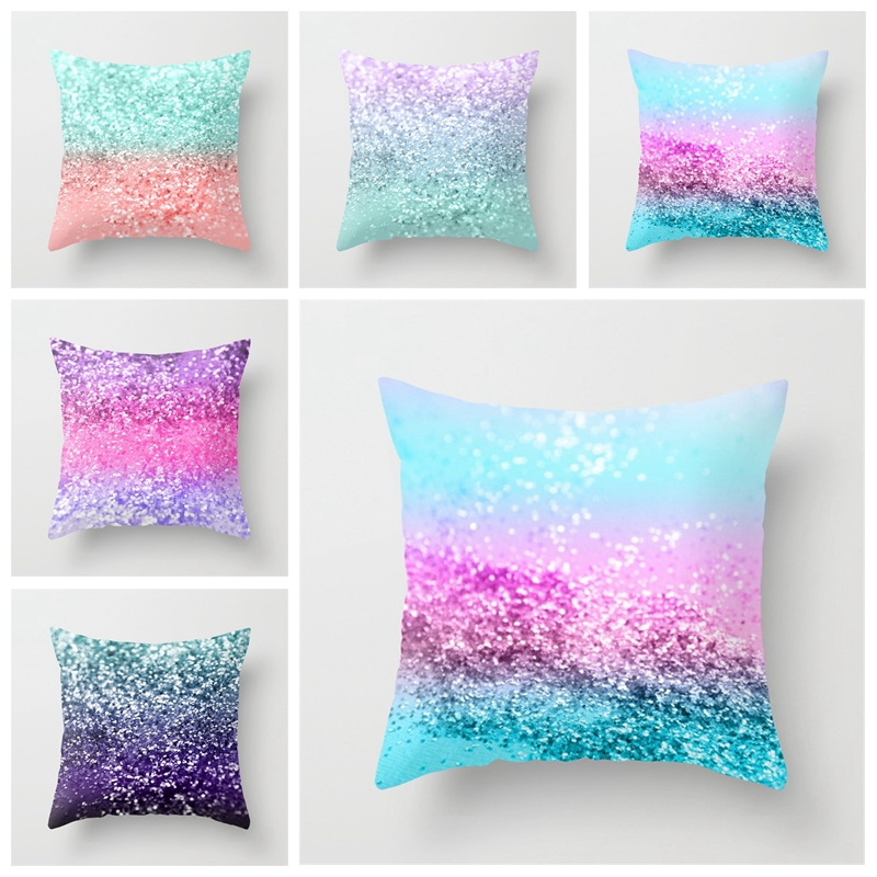 Magical Throw Changing Reversible Pillow Case Cushion Cover DIY Mermaid White Gold Sequin Pillowcase For Bedroom Home Decor