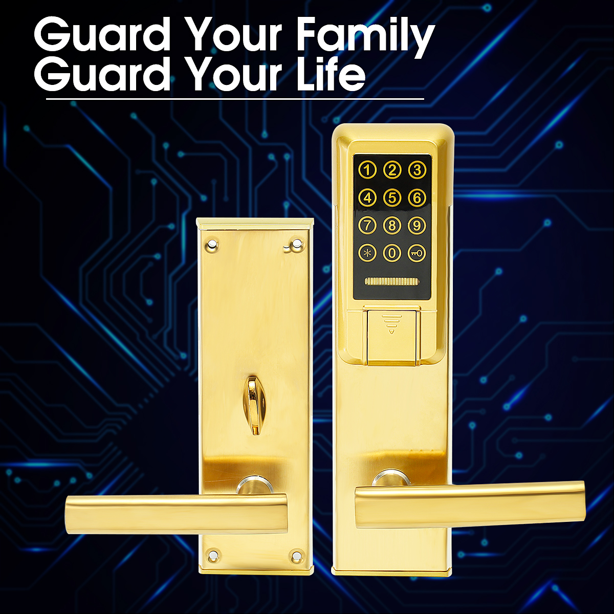 Electronic Smart Digital Touch Keypad Password Card Key Security Code Door Lock