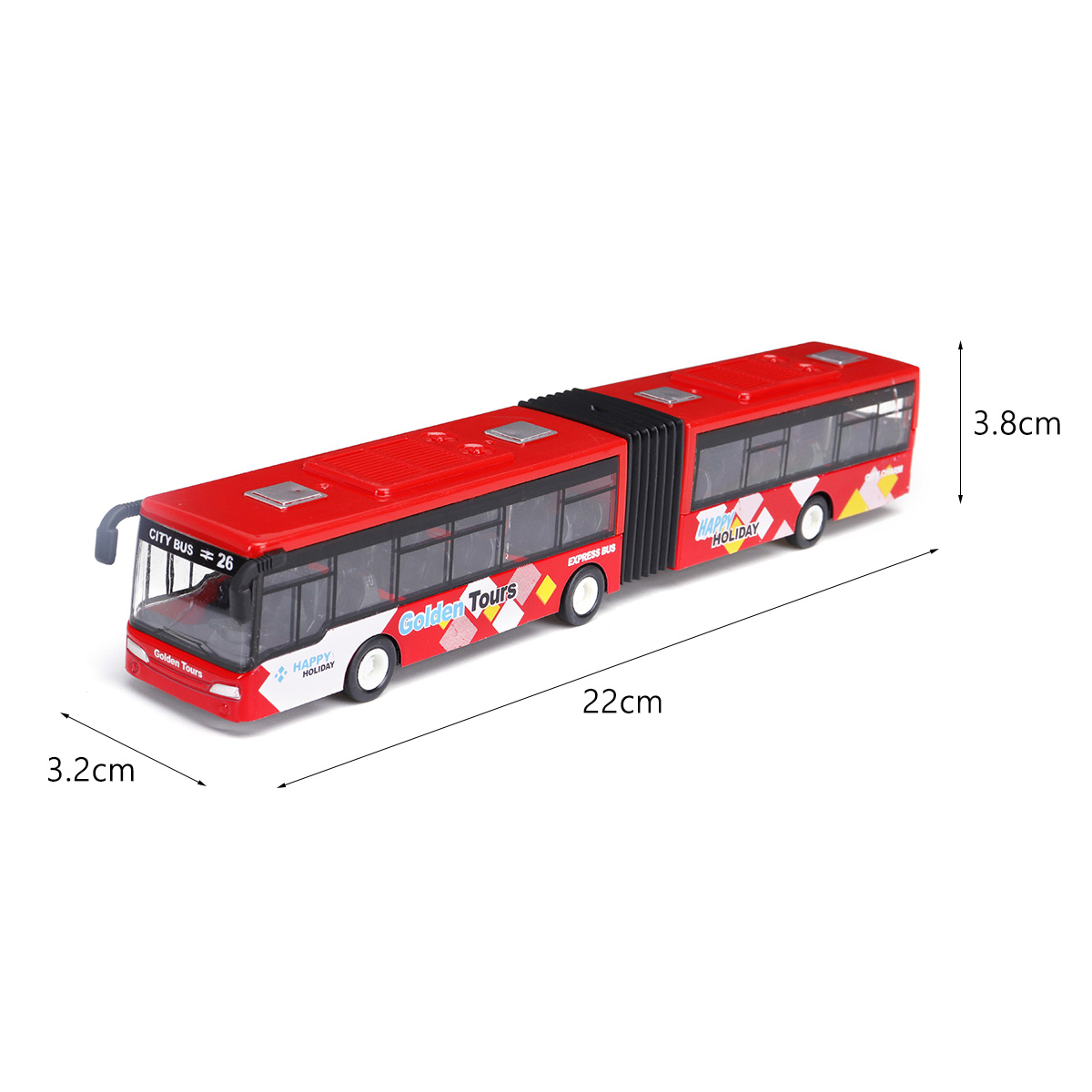 Blue/Red/Green 1:64 18cm Baby Pull Back Shuttle Bus Diecast Model Vehicle Kids Toy