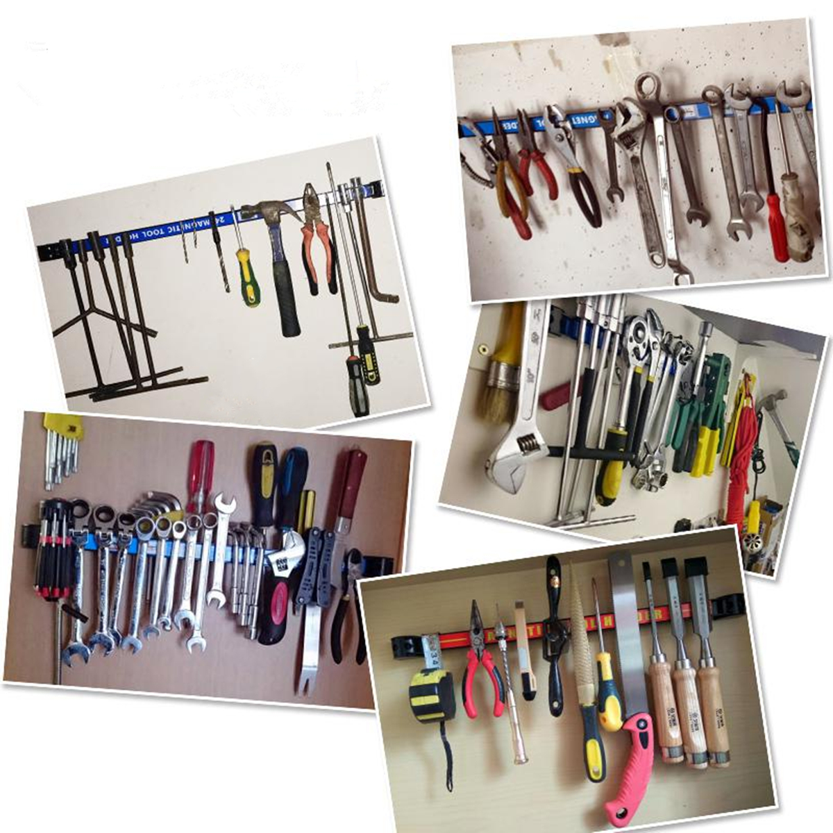 Magnetic Tool Holder Bar Organizer Storage Rack Knife Wrench