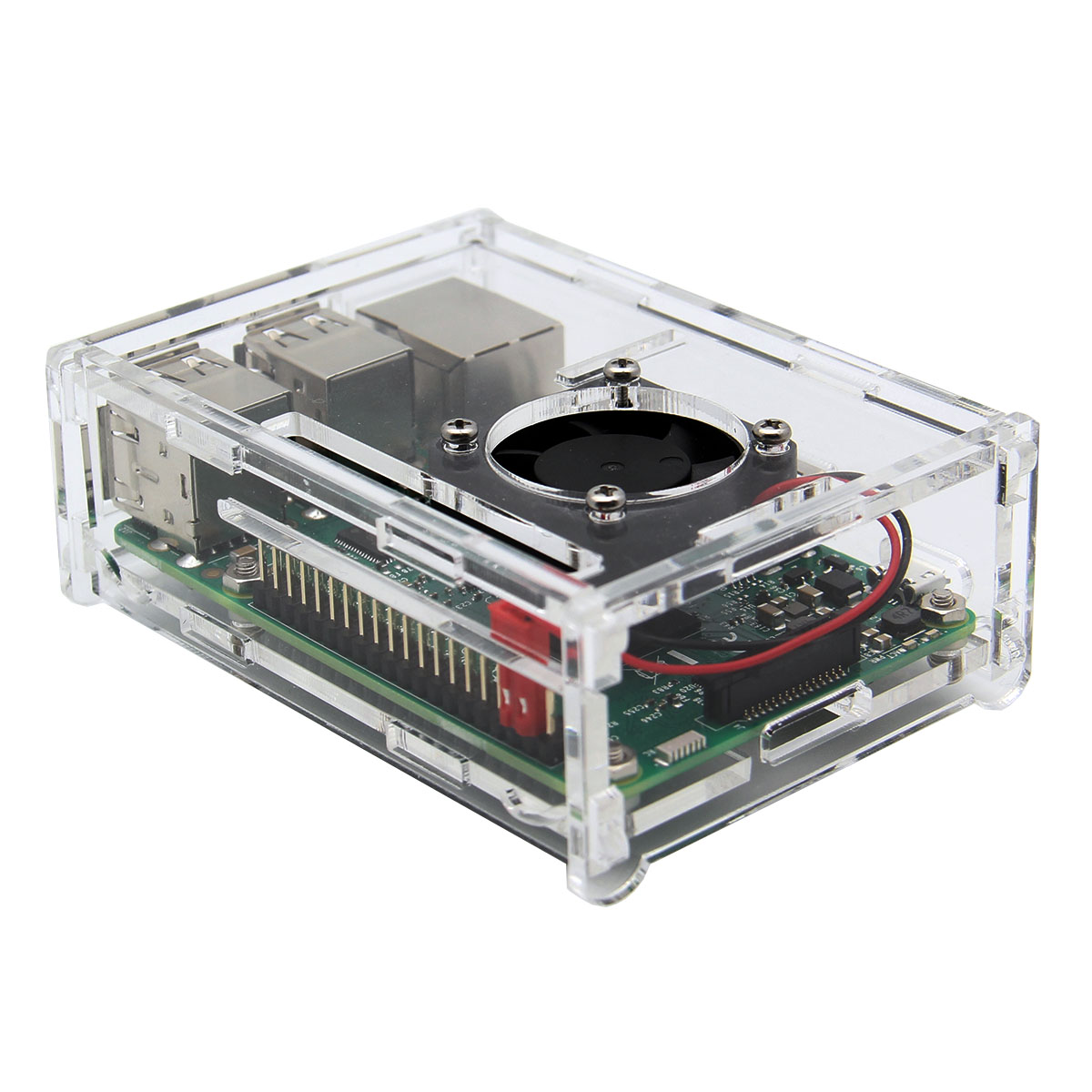 DIY Ultra Slim Low Noise Active Cooling Mini Fan For Raspberry Pi 3 Model B / 2B / B+