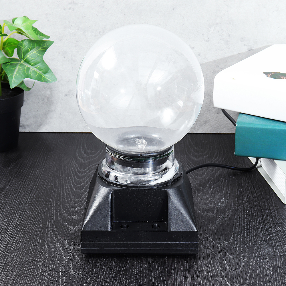 5 Inch Music Plasma Ball Sphere Light Crystal Light Magic Desk Lamp Novelty Bule Light Home Decor