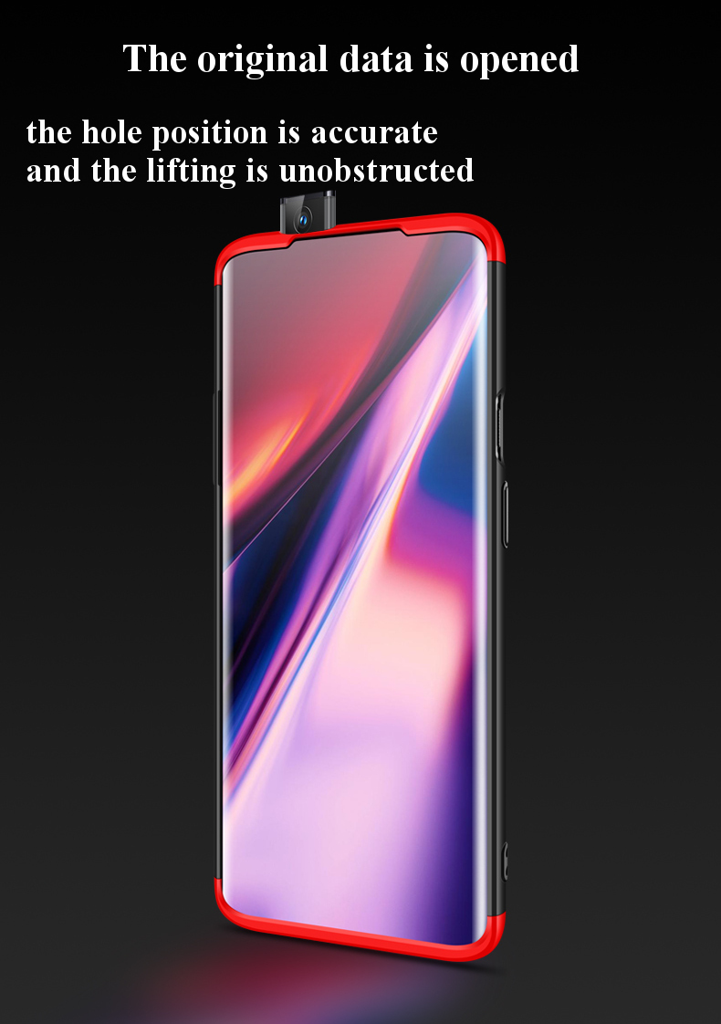 Bakeey™ 3 in 1 Double Dip Full Body Ultra Thin Shockproof Hard PC Protective Case for OnePlus 7 Pro