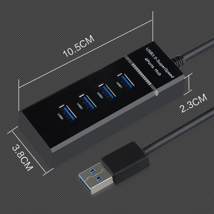 USB 3.0 High Speed 4 Ports HUB Splitter Adapter