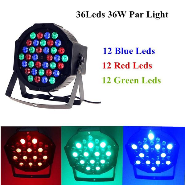 36W RGB LED Stage Light PAR DMX-512 Light Laser Projector Party DJ Light