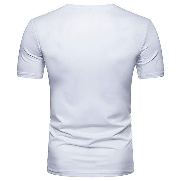 Fashion Side Button Design Solid Color Tops Tees