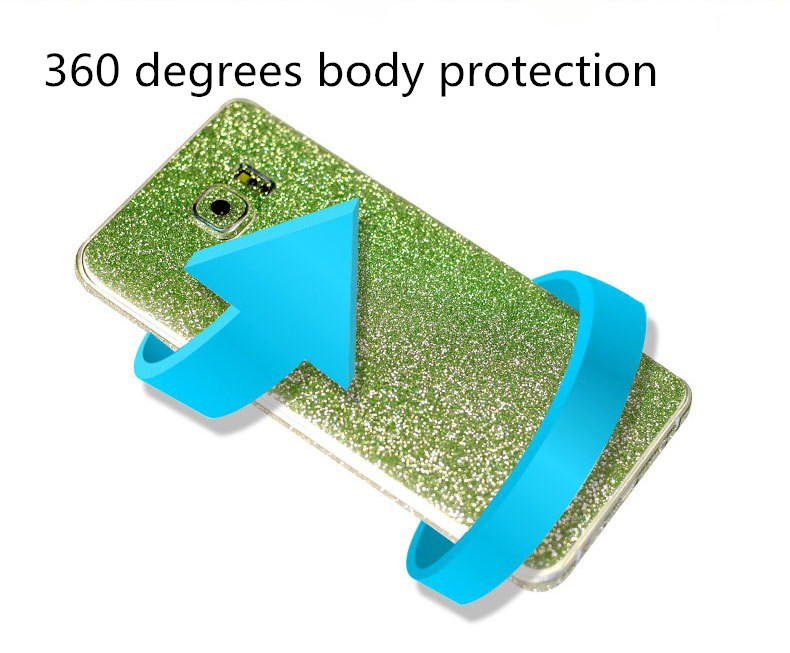 Colorful Scrub Flashing Diamond Full Body Phone Skin Sticker Protection For Samsung Galaxy S6