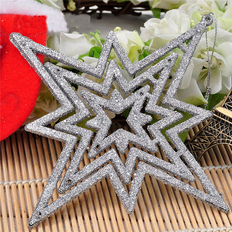 1pc Star 15cm Christmas Tree Pendant Ornaments Holiday Party Hanging Decoration Toys