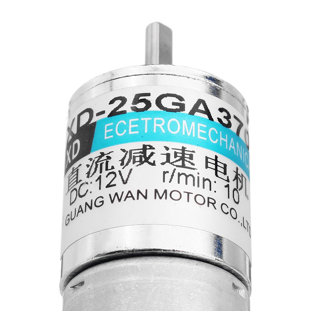 Machifit 25GA370 12V 10rpm DC Gear Motor Metal Gear Motor