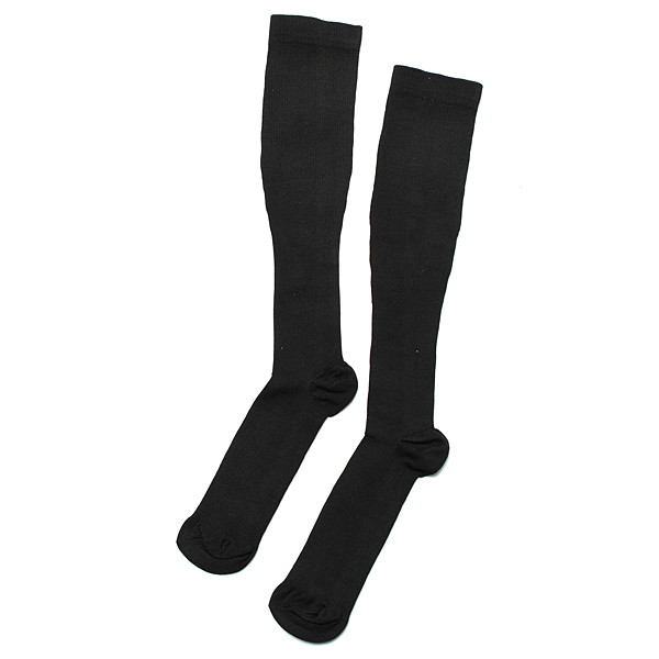 5pairs Black S/M Compression Socks Relief Varicose Vein Stocking Sports Relief Travel Support Anti F
