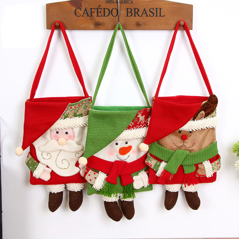Christmas Day Stocking Decoration Santa Candy Bag Stocking Christmas Gift Bags Jewelry Candies Smaller Clothing Accessories