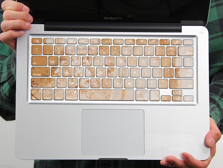 PAG Yellow Marble Plate PVC Keyboard Bubble Free Self-adhesive Decal For Macbook Pro 13 15 Inch