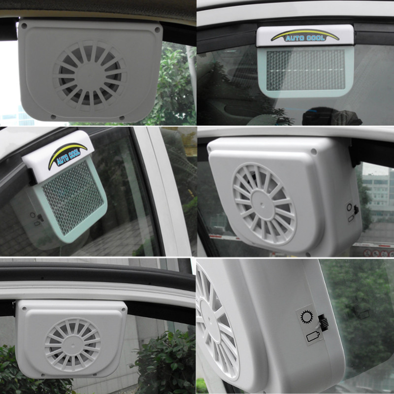 4V 1.2W 300MA Solar Powered Car Window Windshield Auto Air Vent Cooler Cooling Fan