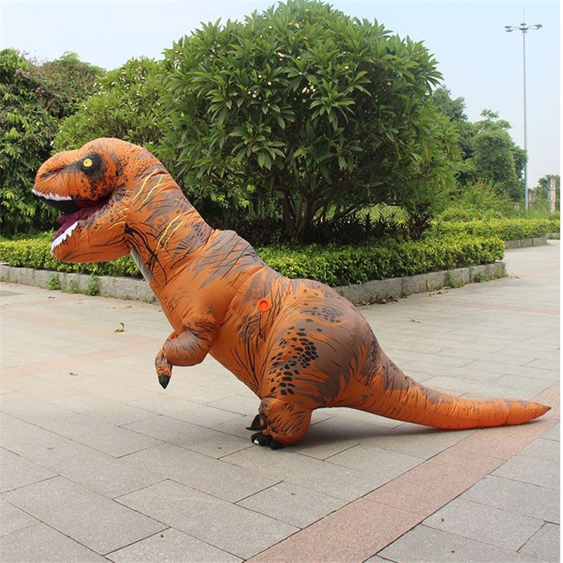 2.2M Dinosaur Inflatable Toys Costumes For 150-190cm Adult Halloween Air Blowing Up Clothes Funny Costumes