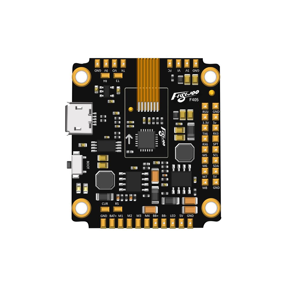 FLYWOO F405 F4 Flight Controller Built In OSD 5V 9V 1.5A BEC ICM20689 MPU6000 For RC Drone