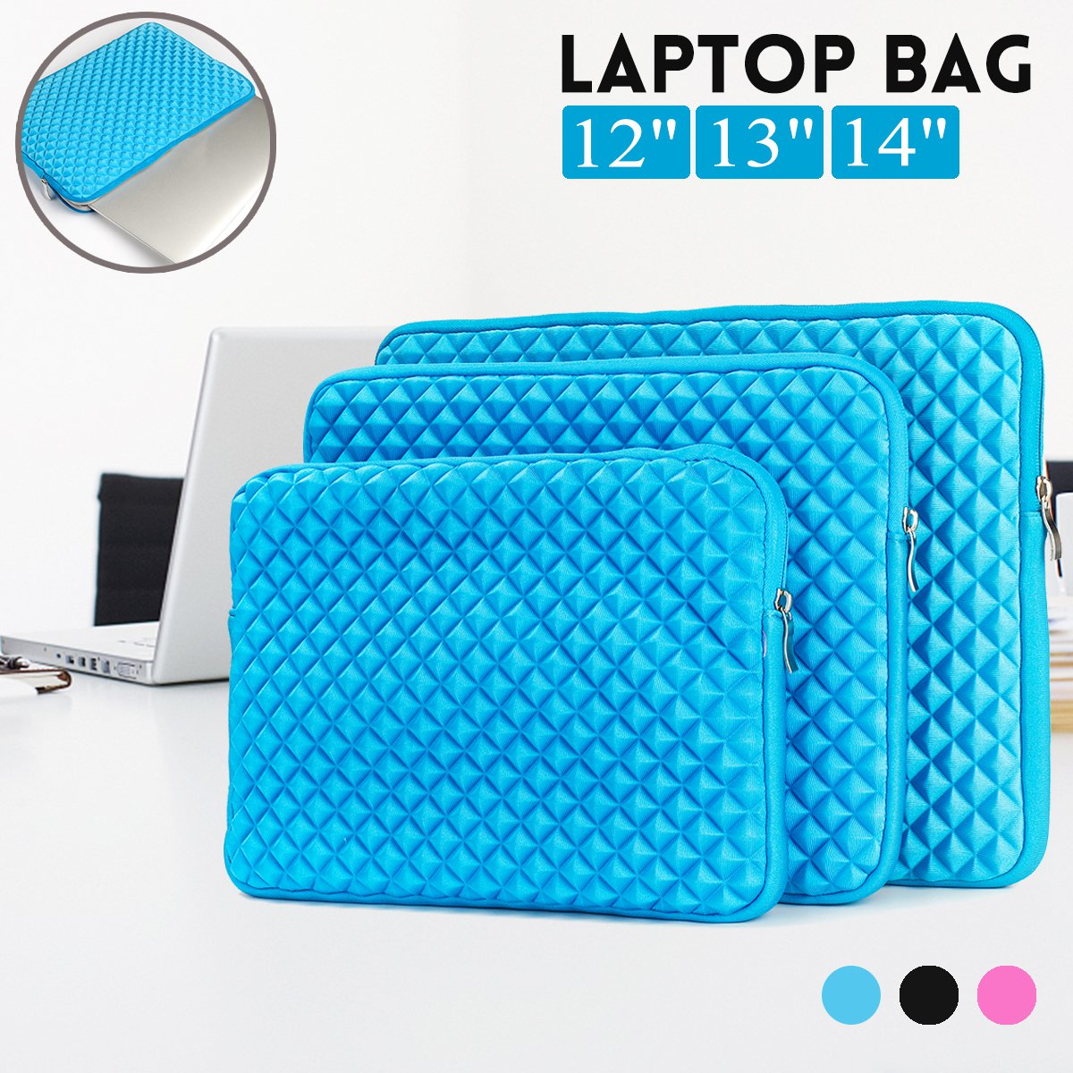 Shockproof Dropproof Tablet Bag Laptop Bag For 12 Inch 13 Inch 14 Inch Laptop Tablet iPad Pro 12.9 Inch Macbook Air 13.3 Inch