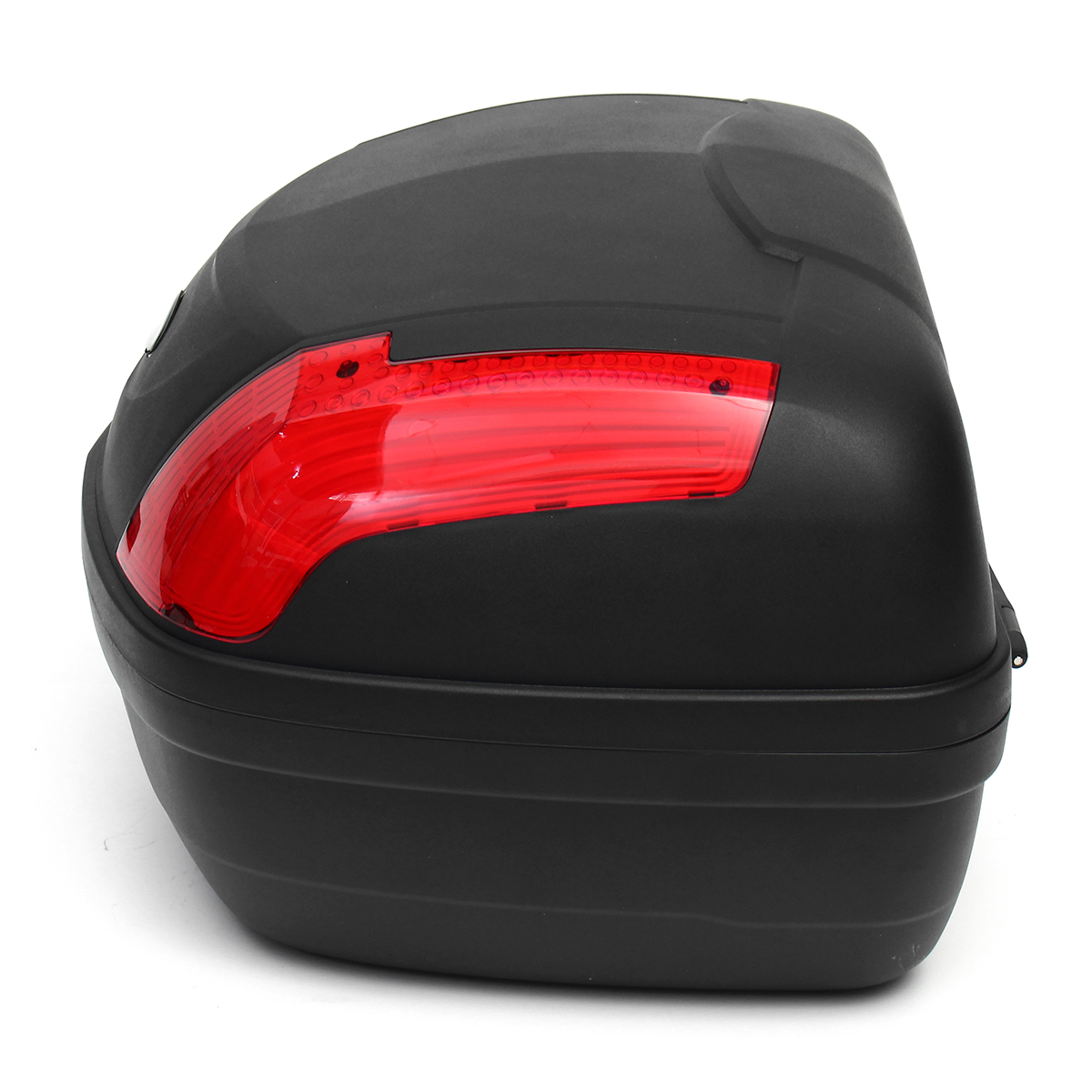 52L Secure Latch Black Motorcycle Scooter Topbox Rear Storage Luggage Top Box