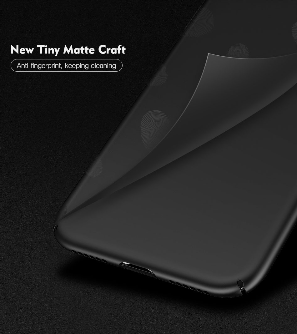 Ultra Thin Silky Fingerprint Resistant Hard PC Back Case For iPhone X