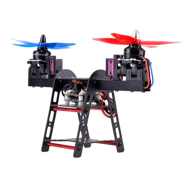 HJ-2502 250mm Wheelbase 2-Axis Carbon Fiber Aluminum Frame Kit for FPV RC Drone