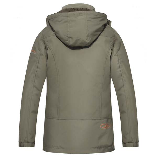 Mens Military Outdooors Hooded Quick Drying Casual Thin Jacket Spring Autumn Solid Color Coat