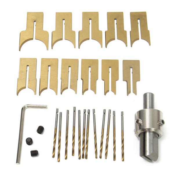 Drillpro 24pcs Alloy Ball Knife Woodworking Tools Wooden Beads Drill Rotary Bead Molding 6-25mm
