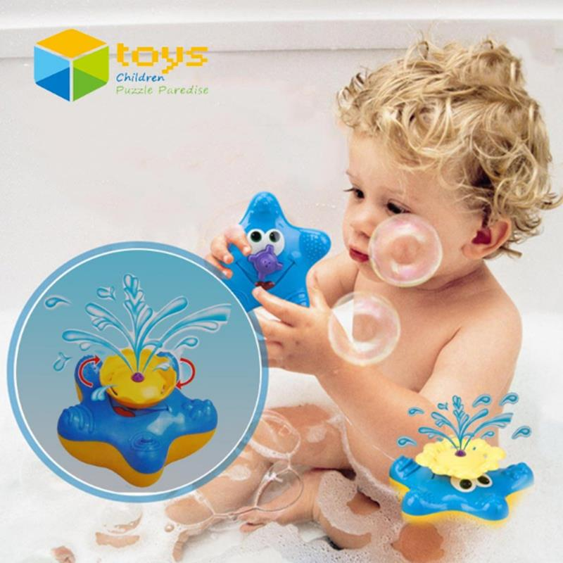 Cikoo Bath Toys for Baby Kids Bathtub Bathroom Swimming Pool Beach Electric Starfish Floating Water Toys