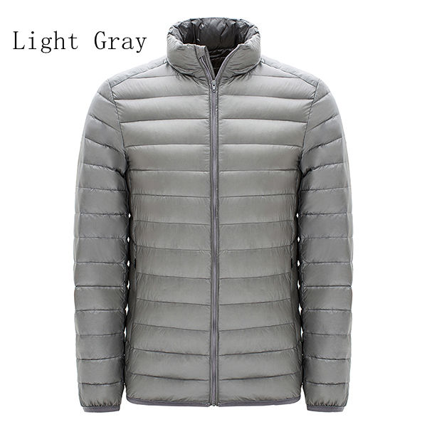 Big Size Mens Light Weight Duck Down Jacket Windproof Warm Casual Jacket Coat