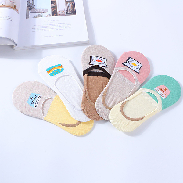Women Cotton Cute Boat Socks Summer Breathable Anti-slip Ankle Socks Low Socks