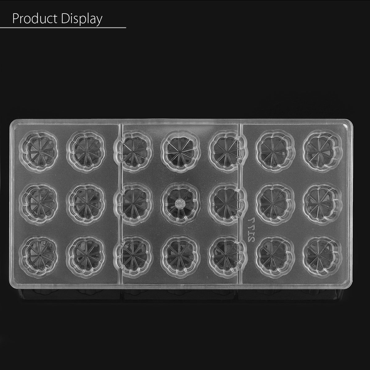 Clear Flower Shaped PC Chocolate Mold Candy Pudding Mould DIY Tray Baking Tools
