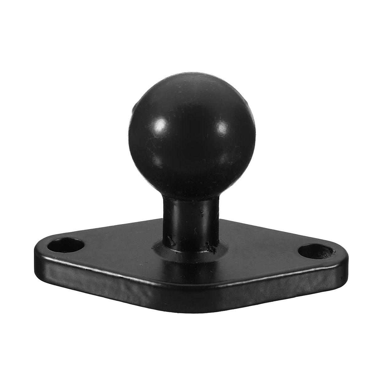 Black Motorcycle GPS Holder Mounting Aluminum 1inch Ball with Diamond Shape Plate