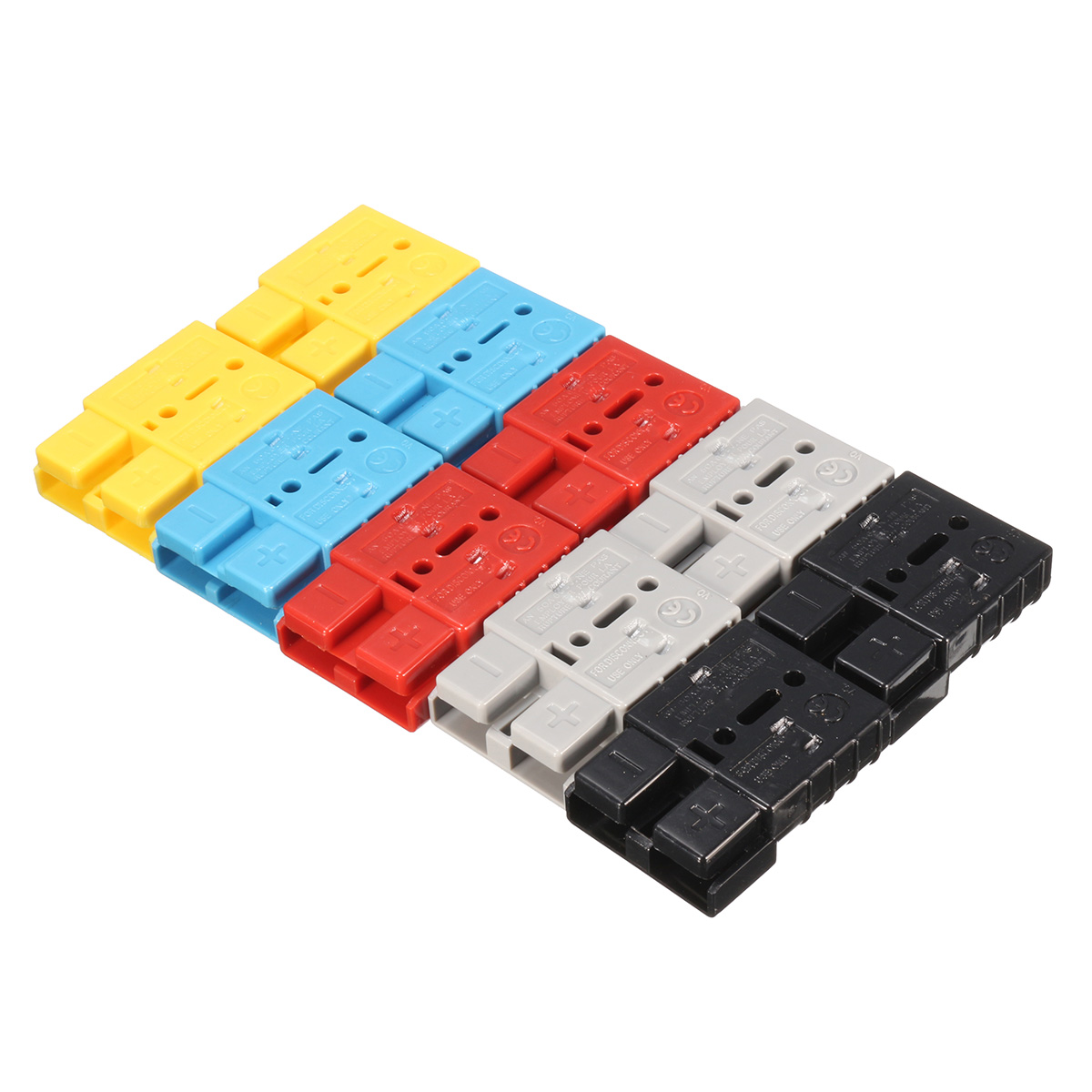 10pcs 5 Pairs Connector Ends Battery Quick Connector 50A 8AWG Plug with Terminal Pin