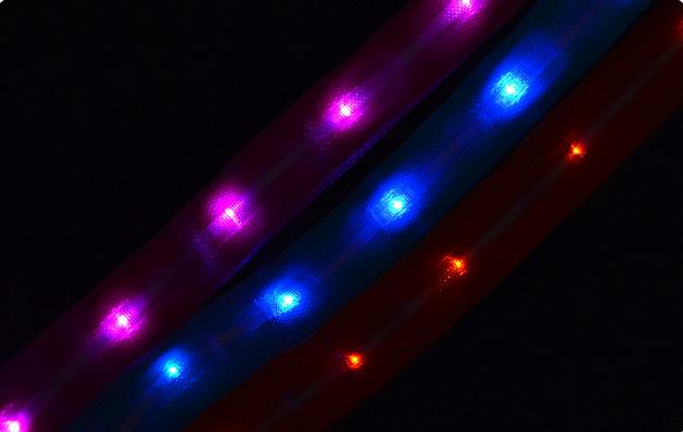 1.25M Nylon Flashing Lighting LED Pet Cat Dog Leash Rope Harness Lead Strap Dog Traction Rope